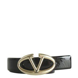 Valentino Patent Leather Beltx Size 85/34 187739